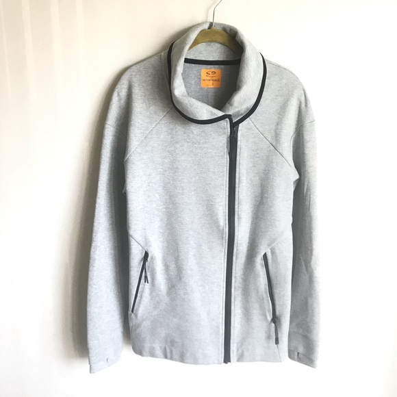 Champion Jackets & Blazers - Champion Victory Fleece Jacket Gray Blk Trim Sz M